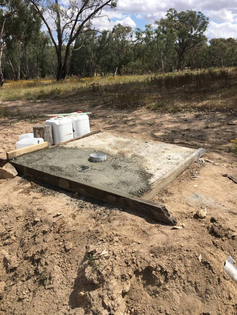 tidy slab ready for toilet